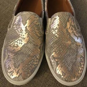 Jimmy Choo snakeskin flat comfort shoes size 38.5